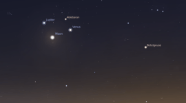 Conjunciones de Venus, Júpiter, y la Luna este fin de semana