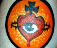 Diseño del sagrado corazón de la nueva escuela