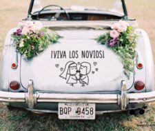 Tendencias ¿Cómo decorar el coche de los novios?