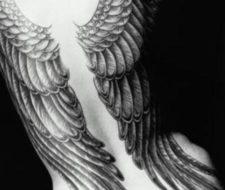 Los ángeles en los tatuajes