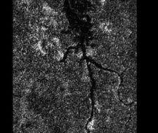 Un sistema de ríos de metano en Titán luna de Saturno