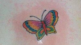 Diseño de mariposa coloreada