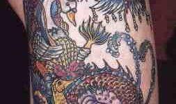 Tatuaje pez chino