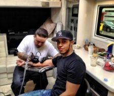 Los tatuajes de Lewis Hamilton