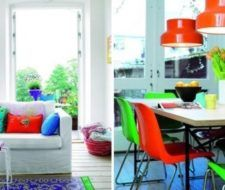 Bloques de colores en la decoración de la casa