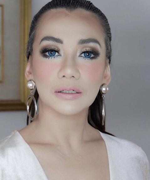 Maquillaje Vestido Azul Y Rosa Vestidos Elegantes De España