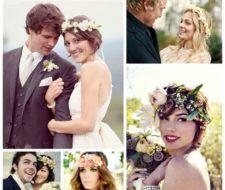 Coronas de flores para novias y comuniones