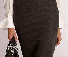 Tendencias otoño   se llevan las faldas tubo con abertura