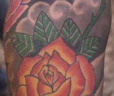 El tatuaje de una flor