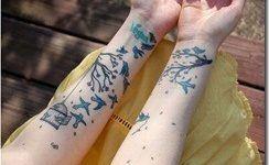 Tatuaje de golondrinas libres