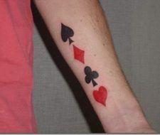 Tatuaje de juegos y casino