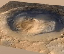 Extraño monte marciano será el objetivo del Curiosity