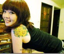 Tatuajes de flores de girasol