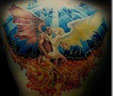 Tatuajes de angeles y demonios