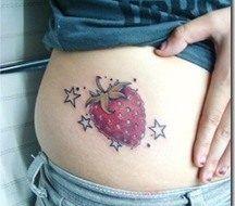 Tatuajes de fresas