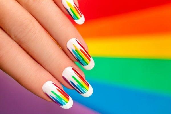 Unas carnaval bonitas arcoiris