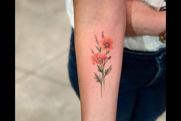 the-best-tattoos-small-women-arm-flower