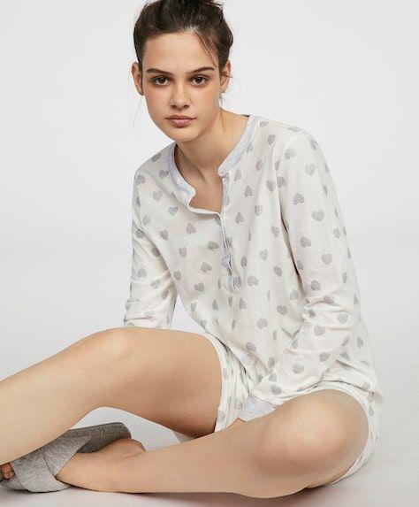 oysho-pijamas-conjunto-camison-corazon-glitter