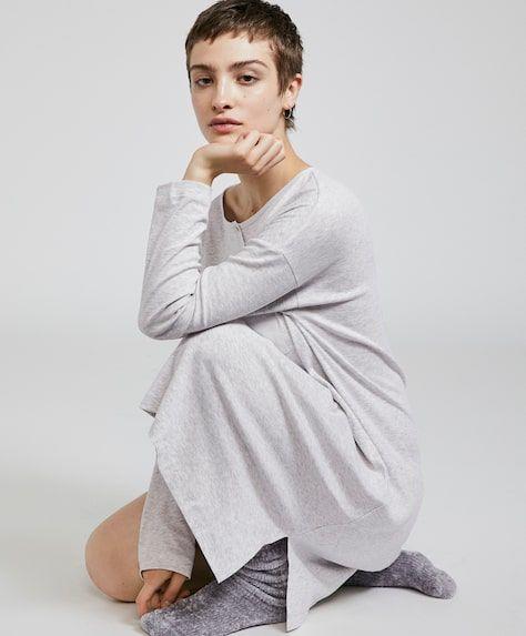 oysho-pijamas-conjunto-camison-largo-algodon-organico