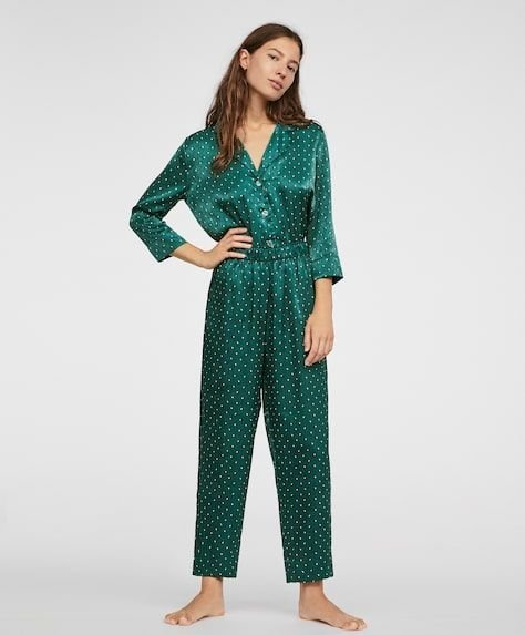 oysho-pijamas-green-dots