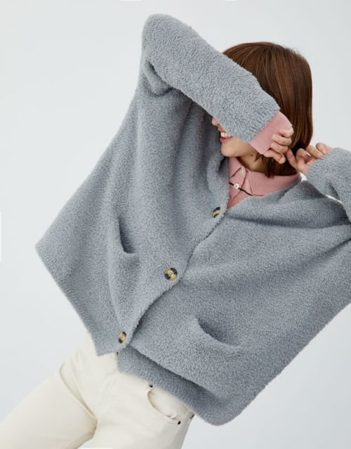 pull-and-bear-catalogo-chaqueta-de-pelo-de-botones