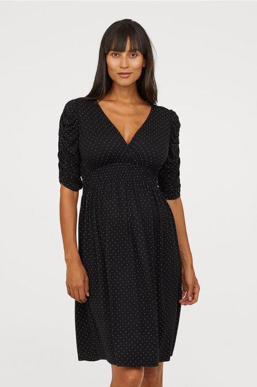 vestidos-de-fiesta-premama-escote-v-negro-lunares-hym