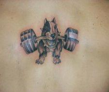 Tatuaje de bull terrier