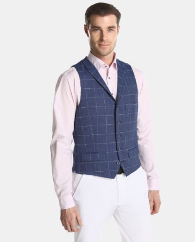 trajes-corte-ingles-chaleco-roy-robson-azul-cuadros