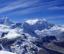 Deshielo de la Cordillera Blanca de Perú por calentamiento global.