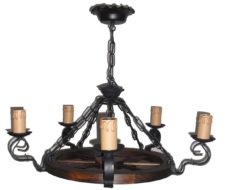Elegir lámparas de techo rústicas
