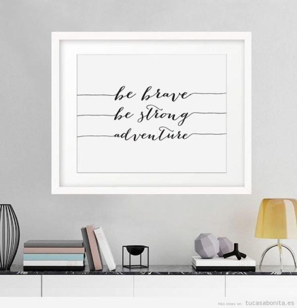 Ideas de decoraci n con cuadros de frases de la vida para - La casa del cuadro ...