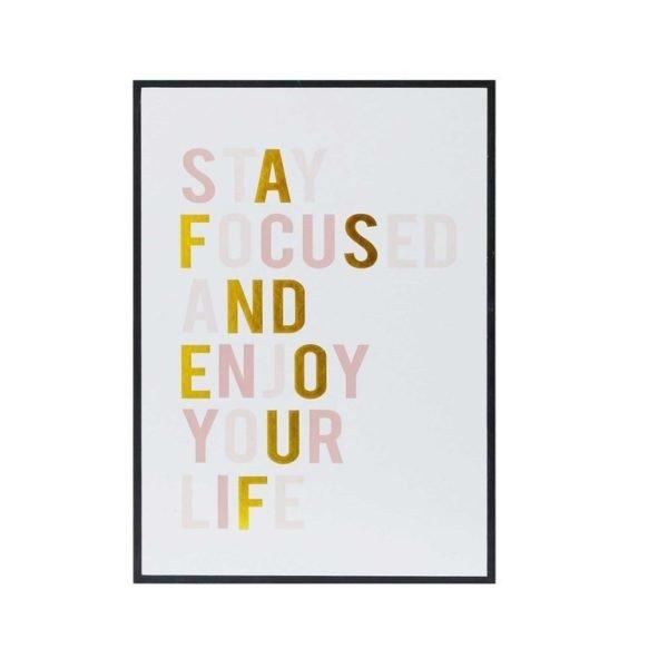 Ideas de decoraci n con cuadros de frases de motivaci n for Cuadros la maison du monde