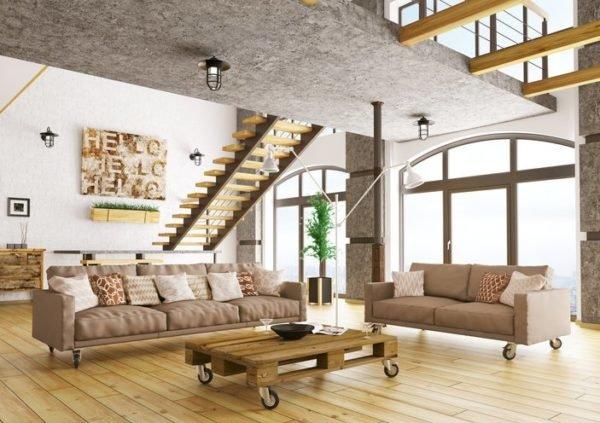 Como decorar un loft moderno muebles con palets