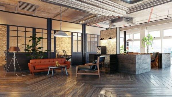 Como decorar un loft moderno murales y biombos