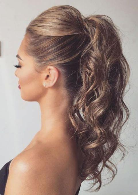 Sorprendentemente fácil peinados cola alta Imagen De Cortes De Pelo Tendencias - Peinados cola alta con volumen - Cortes de pelo con estilo ...