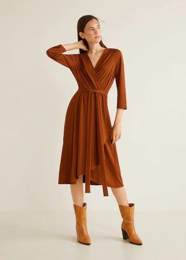 mango-otono-invierno-vestido-cruzado-con-lazo