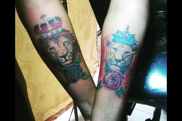 tatuajes-para-parejas-originales-reyes-leones
