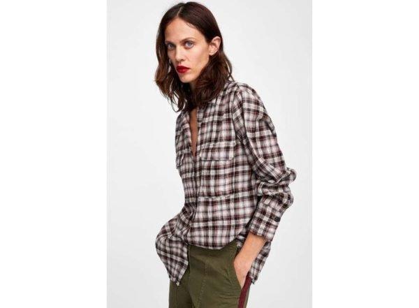 catalogo-zara-mujer-camisa-cuadros-textura