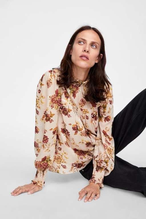 catalogo-zara-mujer-camisa-estampado-floral