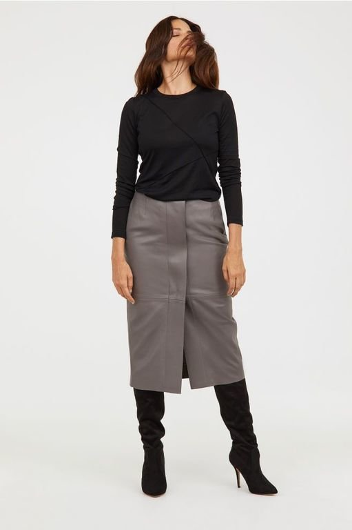 hm-mujer-otono-invierno-falda-de-piel-hasta-la-rodilla