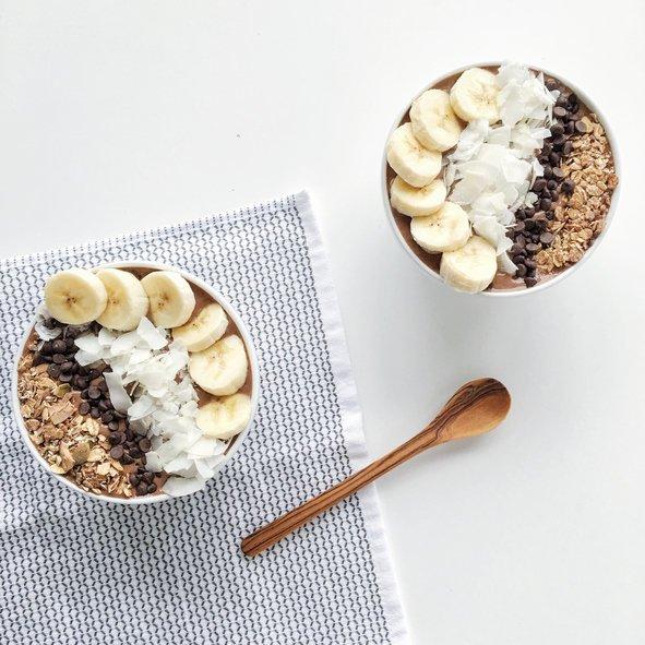 Recetas caseras de acai bowl de chocolate