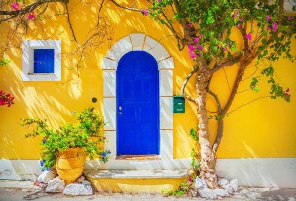 Colores de fachadas para casas amarilla
