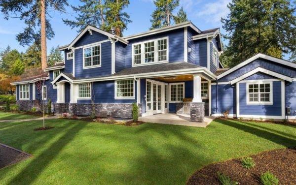 Colores de fachadas para casas azu marina