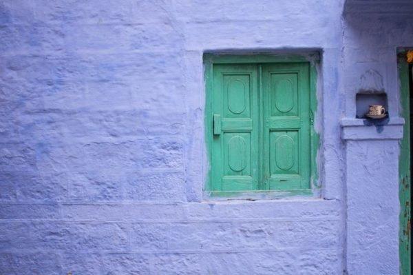 Colores de fachadas para casas azul cyan