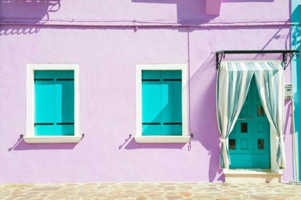 Colores de fachadas para casas morada