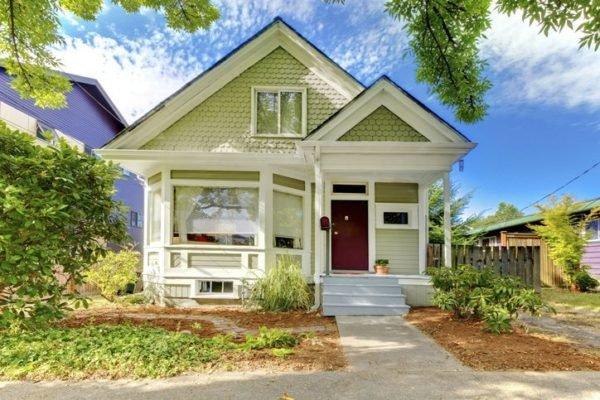 Colores de fachadas para casas verde pistacho