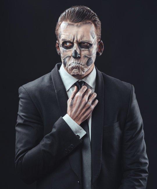 Maquillaje de halloween para hombre calavera