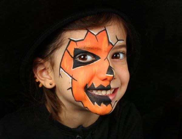 Maquillaje para halloween para nina