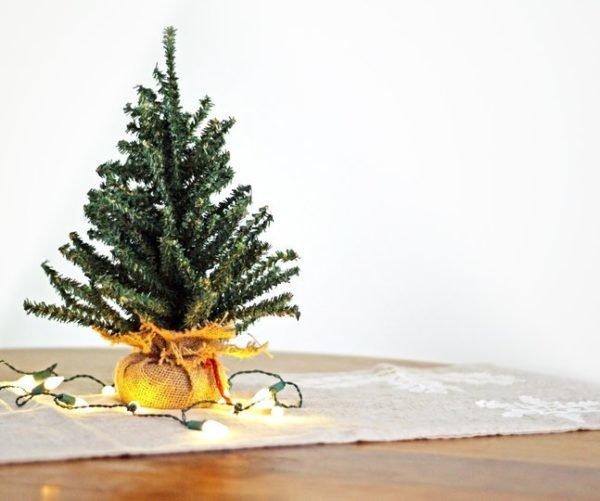 Arbol de navidad pequeno para piso pequeno