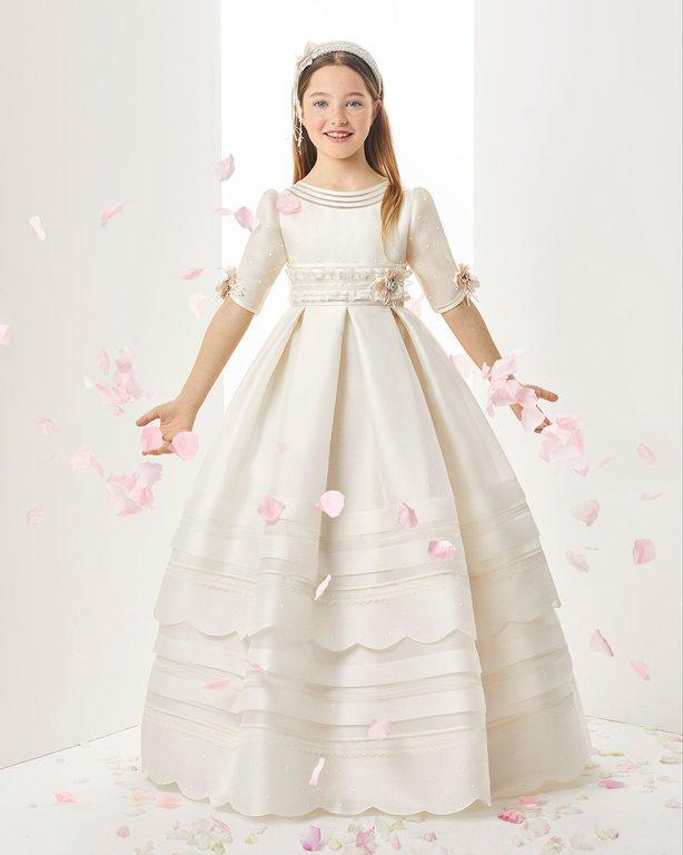 Vestidos de comunion rosa clara precios